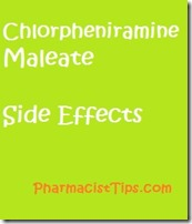 Chlorpheniramine maleate side effects