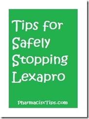How to safely stop taking lexapro and avoiding withdrawal symptoms