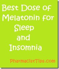 best dose of melatonin for sleep and insomnia