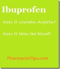 ibuprofen and aspirin and blood thinning what you need to know