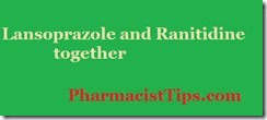 lansoprazole and ranitidine together