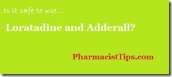 loratadine and adderall
