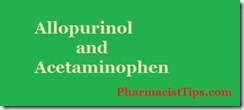 allopurinol and acetaminophen