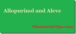 allopurinol and aleve naproxen