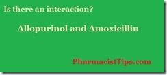 allopurinol and amoxicillin