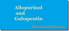 allopurinol and gabapentin
