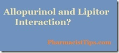 allopurinol and lipitor interaction