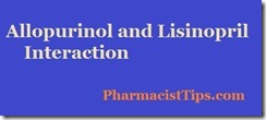 allopurinol and lisinopril interaction