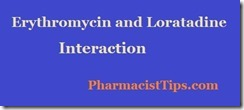 erythromycin and loratadine interaction