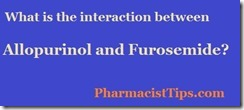 furosemide and allopurinol interaction