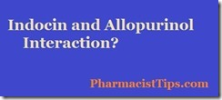 indocin and allopurinol interaction