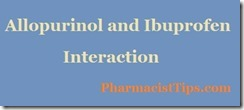 interaction ibuprofen and allopurinol