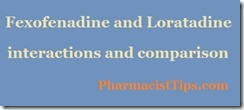 fexofenadine and loratadine comparison interactions