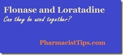 flonase and loratadine used together