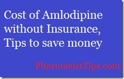 cost of amlodipine without insurance