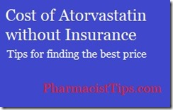 cost of atorvastatin without insurance, tips for finding the best