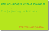 cost of lisinopril without insurance