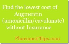 find the lowest cost of augmentin amoxicillin clavulanate without insurance