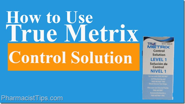 Using true metrix control solution